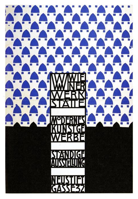 Wiener Werkstatte - exhibition poster