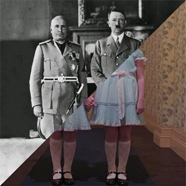 Hitler's visit in Italy, Hitler and Mussolini in Rome, on May 4, 1938 – © Davide Trabucco, Confórmi