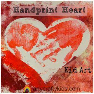 Arty Crafty Kids - Handprint Heart Kid Art