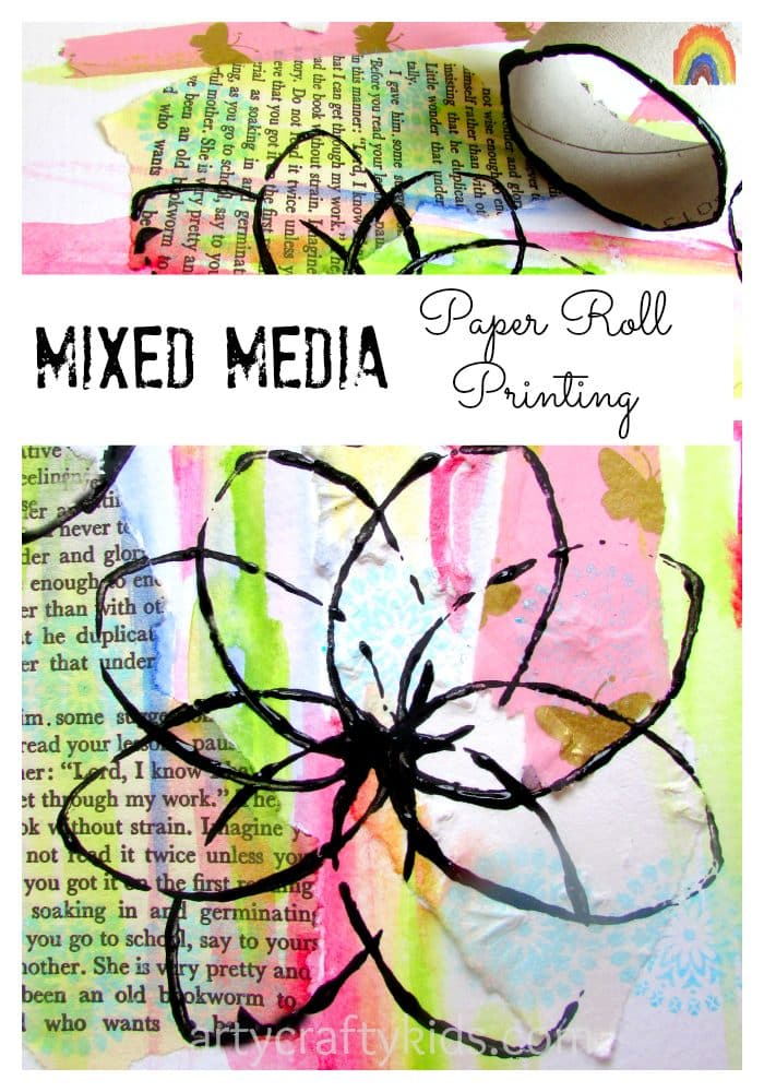 arty crafty kids mixed media paper roll printing - Kids Printing Paper