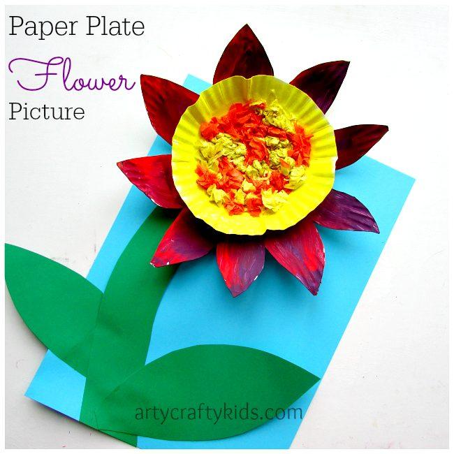Arty Crafty Kids - Craft - Paper Plate Flower
