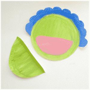 Arty Crafty Kids - Craft - Paper Plate Dinosaur