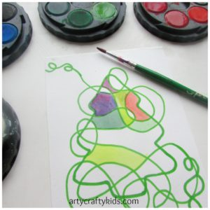 Arty Crafty Kids - Art - Art and Craft Ideas for Kids - Christmas Doodle Art