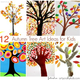 Arty Crafty Kids - Art - Art Ideas for Kids - 12 Autumn Tree Art Ideas for Kids