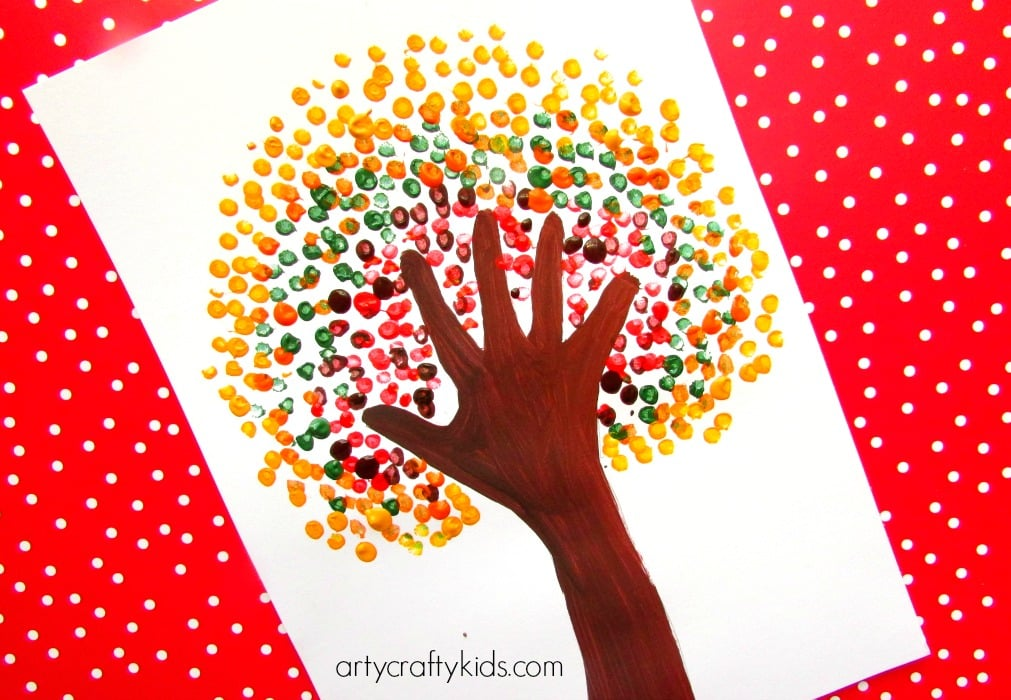 Autumn Handprint Tree - Arty Crafty Kids