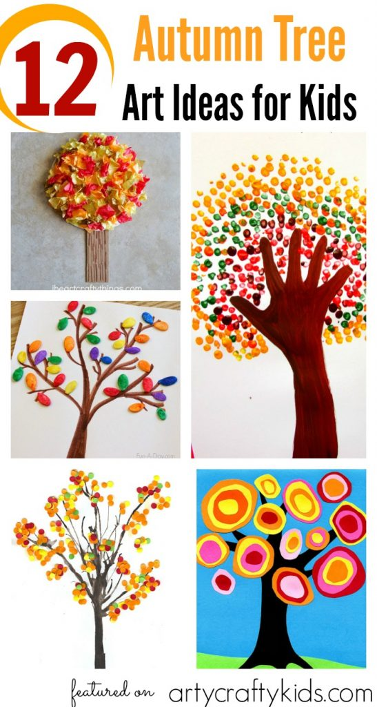 12 Autumn Tree Art Ideas for Kids - Arty Crafty Kids