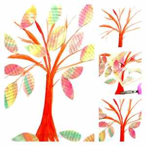 Arty Crafty Kids - Art - Autumn Crafts for Kids - Watercolour Autumn Tree