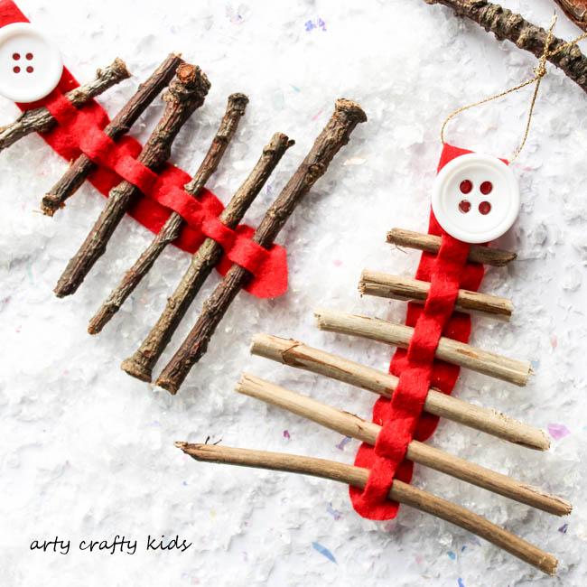 Arty Crafty Kids   Seasonal   Christmas Nature Craft   Rustic Twig Christmas Tree Ornament