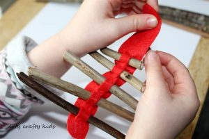 Arty Crafty Kids   Seasonal   Christmas Nature Craft   Rustic Twig Ornament   Our rustic Twig Christmas Tree Ornament is kid-made and inspired by Julia Donaldson's Stick Man. An easy Christmas craft for kids, that's great fine motor practice.