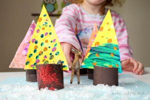 Arty Crafty Kids | Art | Creative Play Woodland Trees | Transform beautiful process art into woodland trees for some magical woodland play!