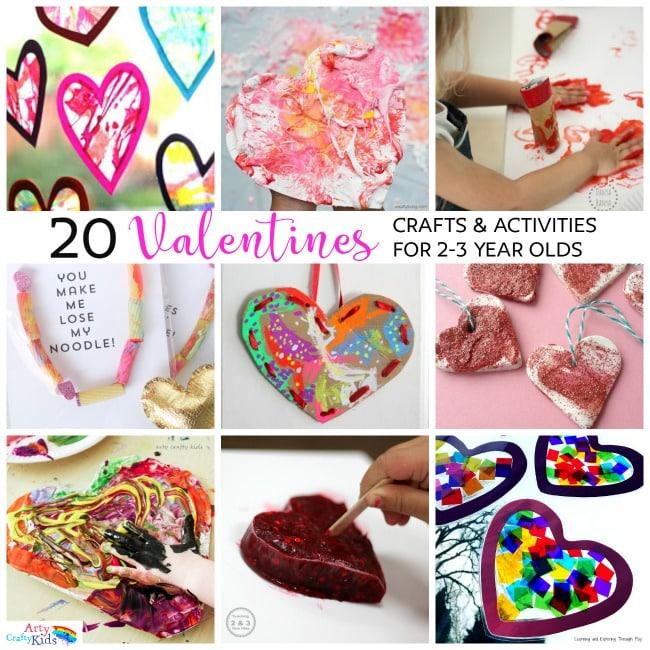 20 Valentines Preschool Crafts