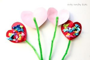 Arty Crafty Kids   Valentines   Craft Ideas for Kids   Toddler Valentines Heart Bouquet   The perfect Valentines craft for toddlers and preschoolers!