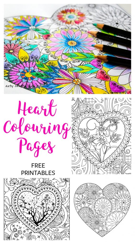 Heart Coloring Pages - Arty Crafty Kids