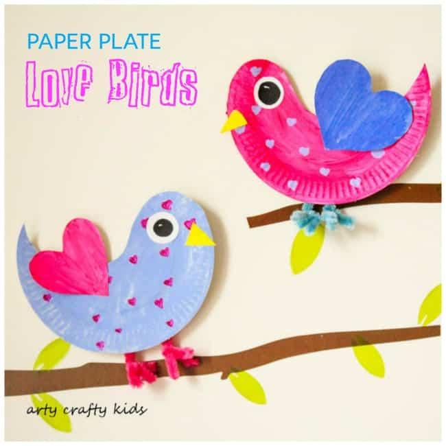 Arty Crafty Kids | Craft | Paper Plate Love Birds | Super cute paper plate Love  sc 1 st  Arty Crafty Kids & Paper Plate Love Birds - Arty Crafty Kids