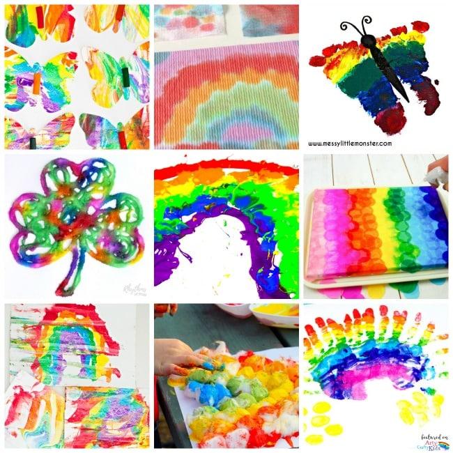20 Rainbow Kids Art Projects