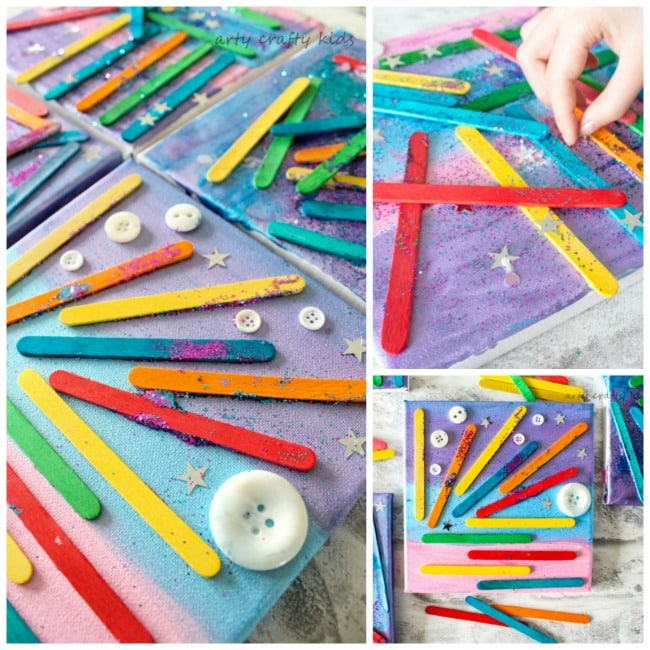 Craft Stick Canvas Art