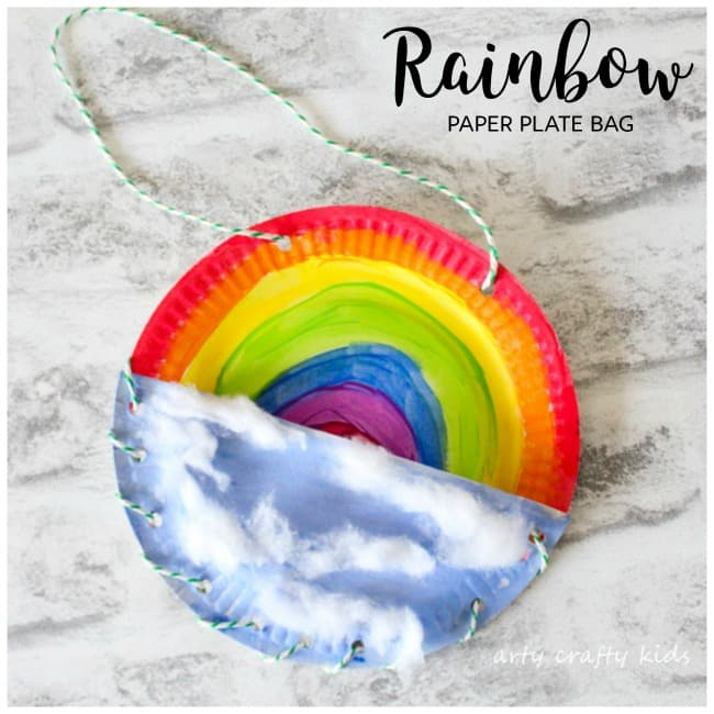 Arty Crafty Kids | Book Club | Craft Ideas for Kids | Rainbow Paper Plate Bag  sc 1 st  Arty Crafty Kids & Rainbow Paper Plate Bag - Arty Crafty Kids