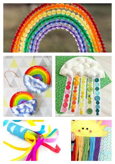 Arty Crafty Kids | Craft | 22 Rainbow Kids Crafts | A beautiful collection of the happiest rainbow crafts for kids! A variety of spring crafts to suit your toddler, preschooler and beyond.