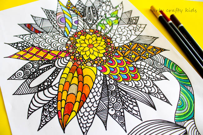 sunflower coloring page - Detailed Sunflower Coloring Pages