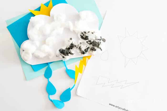 Arty Crafty Kids | Craft | Weather Changing Cloud Craft