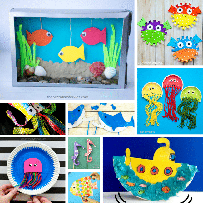 Under the sea crafts for kids arty crafty kids for Sea life arts and crafts