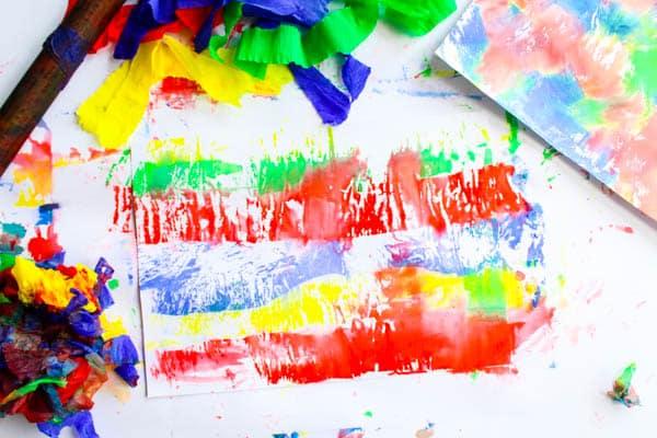 Arty Crafty KidsArt | Bleeding Crepe Paper Art | An easy art project for kids