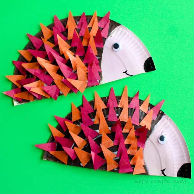 Paper Plate Hedgehog Craft Arty Crafty Kids