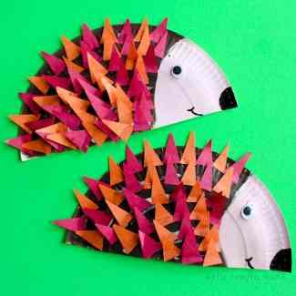 Paper Plate Hedgehog Craft