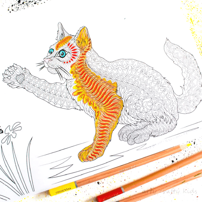 Free Cat Coloring Page - Arty Crafty Kids
