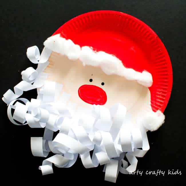 Paper plate santa claus arty crafty kids for Santa crafts for kindergarten
