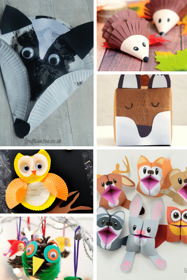 Adorable Forest Animal Crafts - Arty Crafty Kids