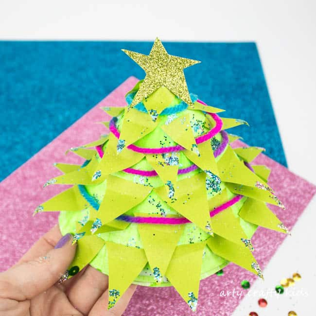 Arty Crafty Kids | Christmas Crafts for Kids | Design your own 3D Paper Plate Christmas. u201c  sc 1 st  Arty Crafty Kids & Paper Plate Christmas Tree Craft - Arty Crafty Kids