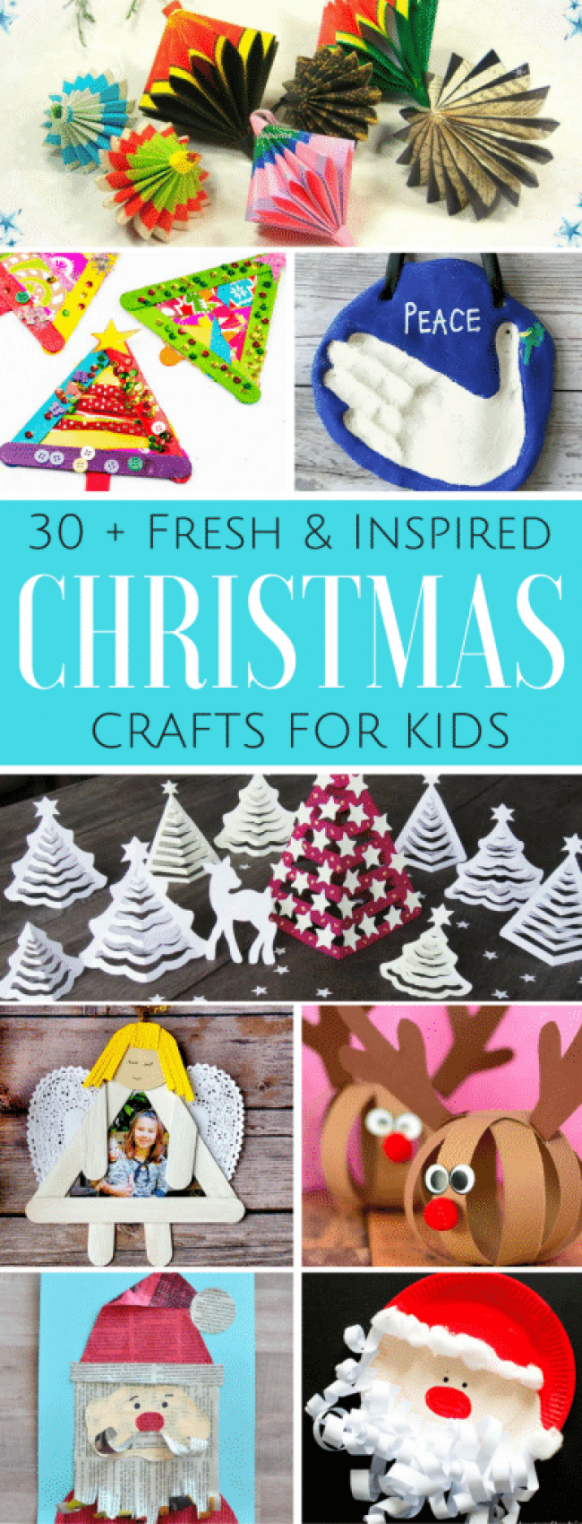 Arty Crafty Kids | Christmas Crafts for Kids | 30+ Fresh and Inspired Kids Christmas Crafts #christmas #christmascrafts #christmascraftsforkids #preschoolchristmascrafts