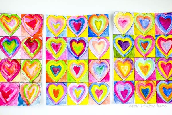 Kandinsky Inspired Heart Art Arty Crafty Kids