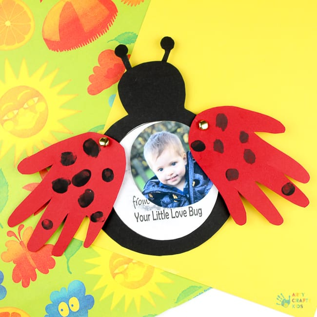 Love Bug Handprint Card Arty Crafty Kids