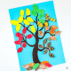 Arty Crafty Kids | Crafts for Kids | Accordian Leaf Autumn Tree Craft for Kids - create a 'crunchy' autumn leaf effect with the accoridan fold #autumntree #autumncrafts #kidscrafts #craftsforkids