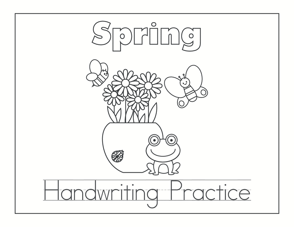 Spring Abc And Handwriting Set