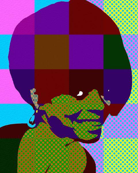 Pop Art Portrait Diana Ross