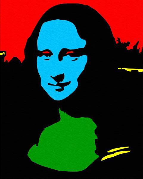 Pop Art Portrait Mona Lisa