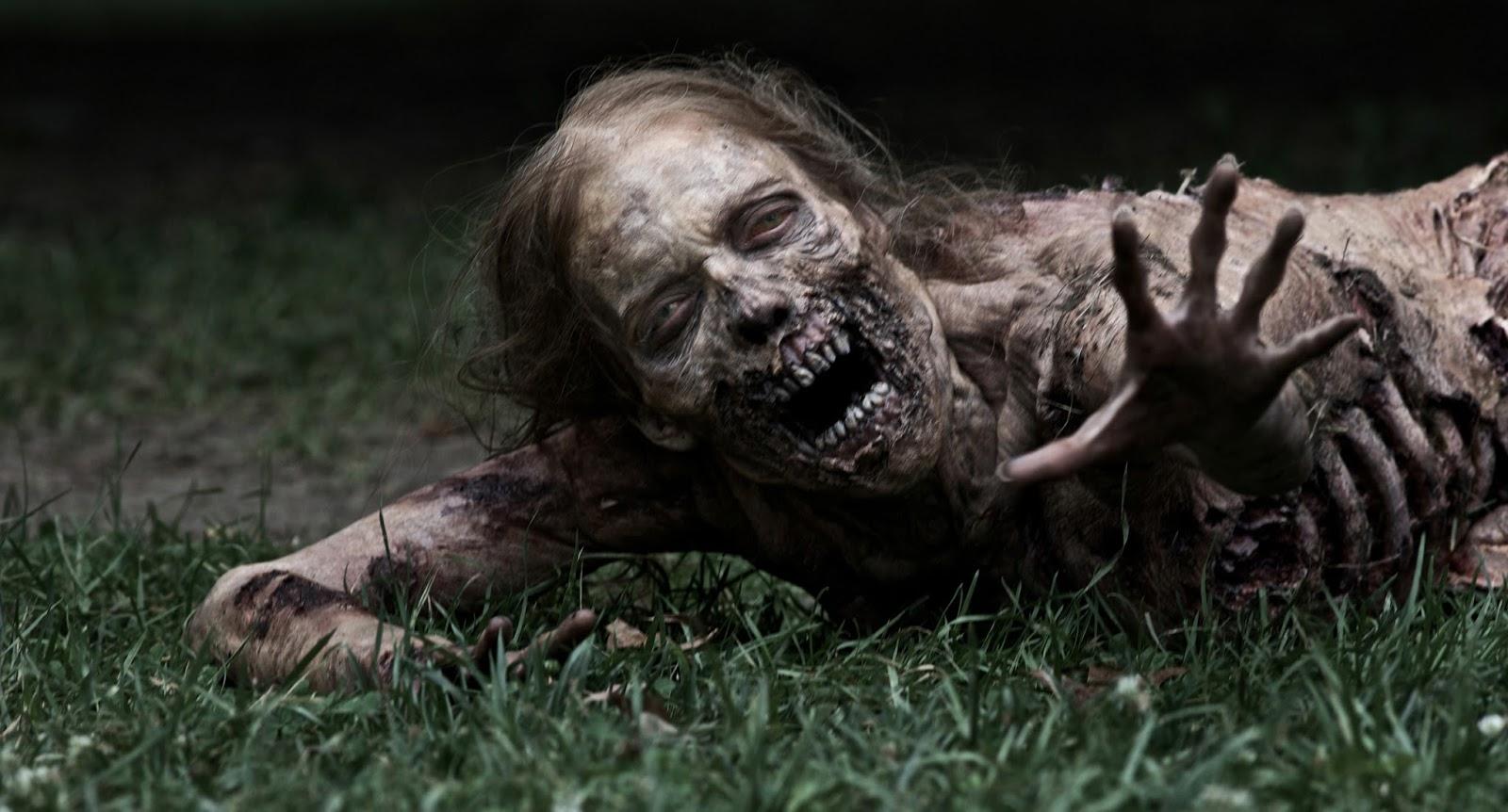 Un zombie qui n'a pas l'air tranquille