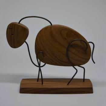 Handmade Wooden Sheep