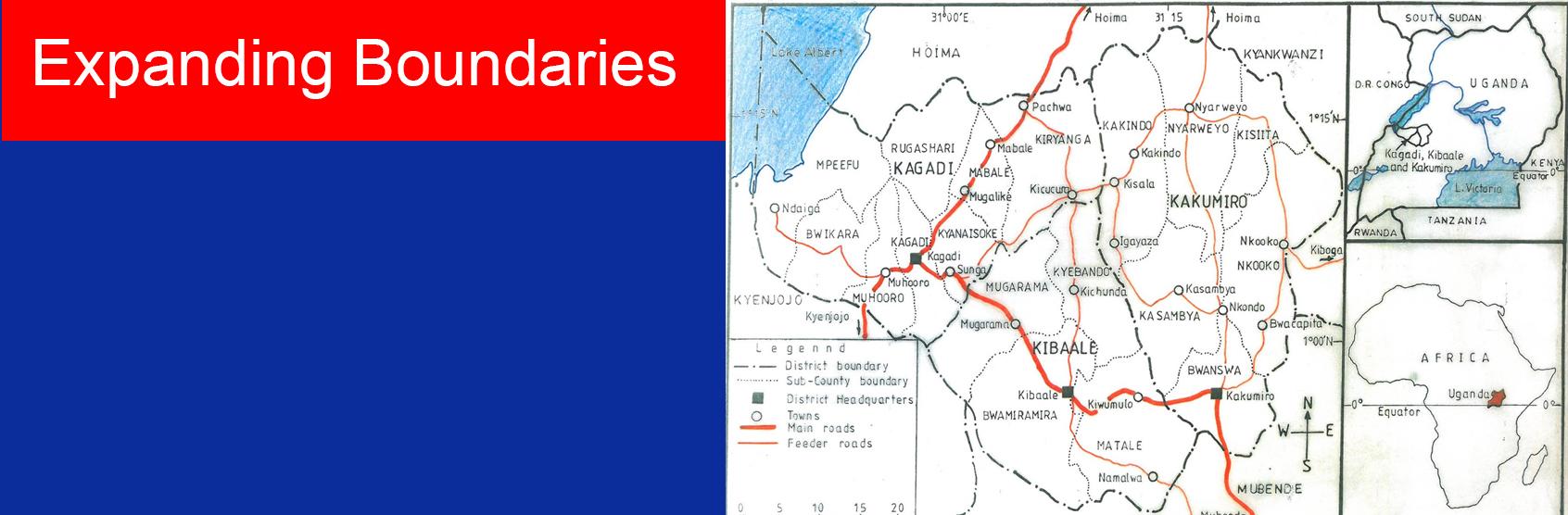 The ARU Academic Research Team develops the map of Kagadi, Kibaale and Kakumiro Districts