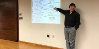 Rosetta Lee, a diversity speaker, gave a talk last night to parents of Key School students. Photo: APat Staff
