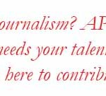 Do you love good journalism. APat is a community media group that needs your talent and story ideas.