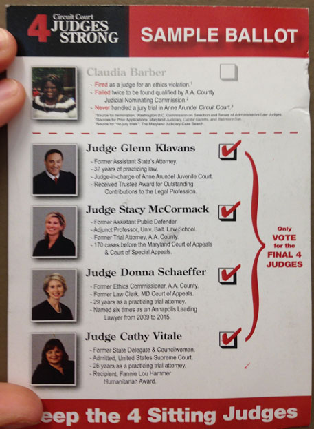 Opposite side of postcard. Barber was a judge longer than the four sitting judges combined.