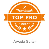 Arvada Guitar Thumbtack Top Pro Badge 2016