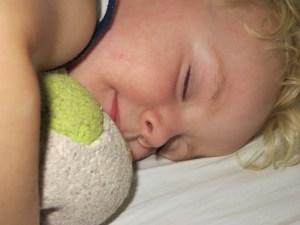 Child sleeping happily