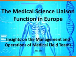 European MSLs