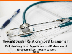 European Thought Leader Relationships