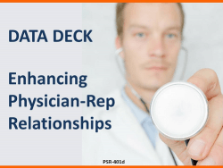 Enhancing Physician-Rep Relationships